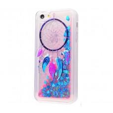 Чехол для iPhone 5/5s/SE блестки вода New амулет