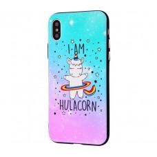 Чехол для iPhone X / Xs Единорог Hulacorn