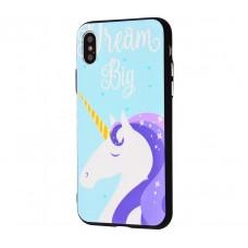Чехол для iPhone X / Xs Единорог Big Dream