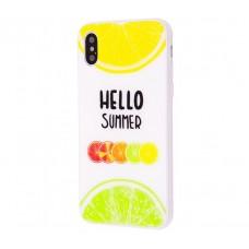 Чехол для iPhone X Hello Summer