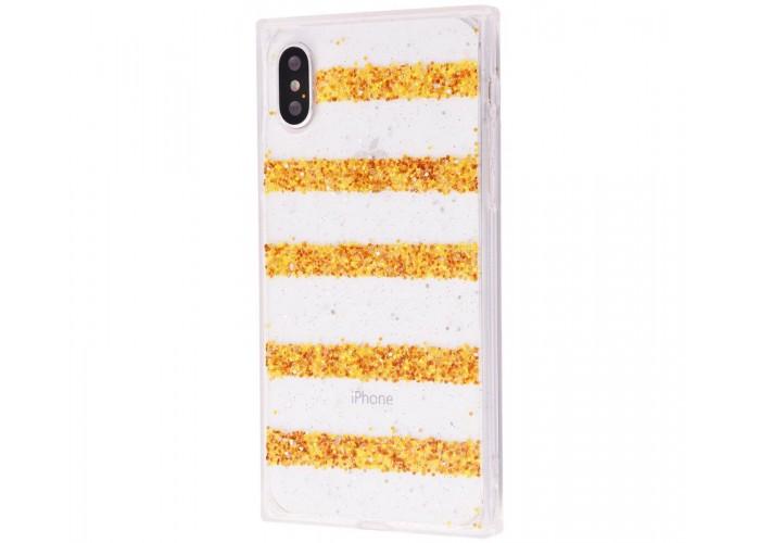 Чехол для iPhone X Shine Line золотистый