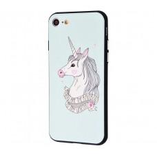 Чехол для iPhone 7/8 Единорог белый