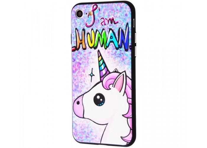 Чехол для iPhone 7/8 Единорог I Am Human