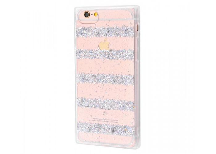 Чехол для iPhone 6/6s Shine Line серебристый
