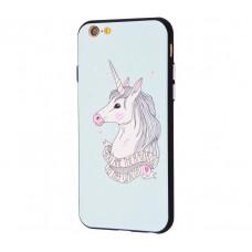 Чехол для iPhone 6/6s Единорог белый