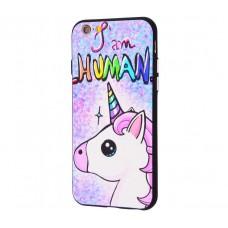 Чехол для iPhone 6/6s Единорог I Am Human