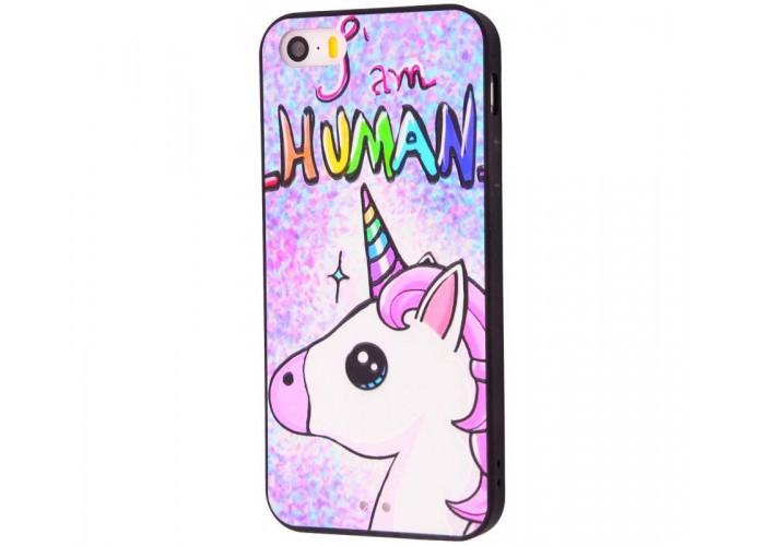 Чехол для iPhone 5/5s/SE Единорог I Am Human