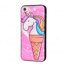 Чехол для iPhone 5/5s/SE Единорог мороженое