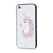 Чехол для iPhone 5/5s/SE Единорог белый