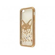 Чехол для iPhone 5/5s/SE Kingxbar Diamond Лиса золотистый