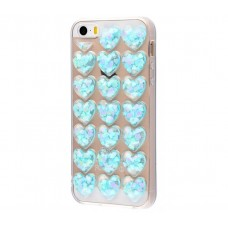 Чехол для iPhone 5/5s/SE Confetti Heart голубой
