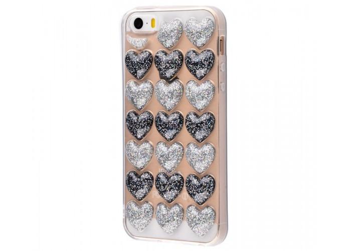 Чехол для iPhone 5/5s/SE Confetti Heart черный