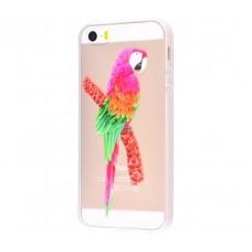 Чехол для iPhone 5/5s/SE попугай