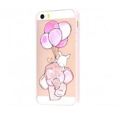 Чехол для iPhone 5/5s/SE слоник