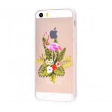 Чехол для iPhone 5/5s/SE фламинго