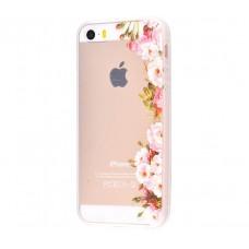 Чехол для iPhone 5/5s/SE цветы