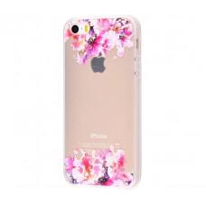 Чехол для iPhone 5/5s/SE цветы маслом