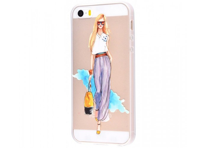 Чехол для iPhone 5/5s/SE девушка