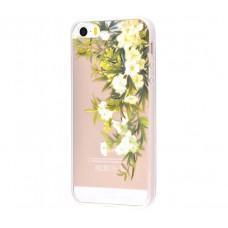 Чехол для iPhone 5/5s/SE белые цветы