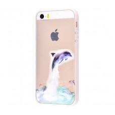 Чехол для iPhone 5/5s/SE дельфин
