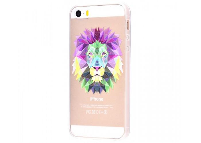 Чехол для iPhone 5/5s/SE лев