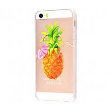 Чехол для iPhone 5/5s/SE ананас