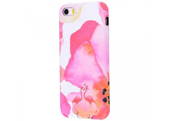 Чехол для iPhone 5/5s/SE Luxo Face neon №20