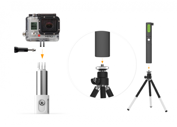 Монопод iOttie MiGo Mini Selfie Stick, Black, GoPro Pole for iPhones and Android Smartphones HLMPIO120BK