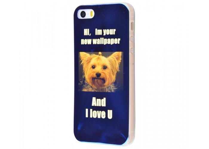 Чехол для iPhone 5/5s/SE перламутр york terrier