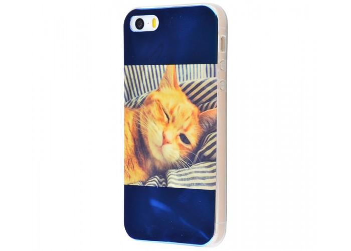 Чехол для iPhone 5/5s/SE перламутр cat