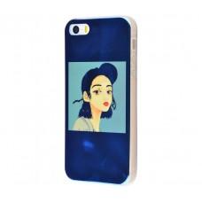 Чехол для iPhone 5/5s/SE перламутр girl