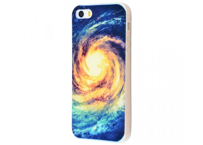 Чехол для iPhone 5/5s/SE перламутр galaxy