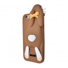 Чехол для iPhone 5/5s/SE Moschino Bunny Brown