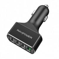 Автомобильное зарядное устройство RAVPower 54W 4-Port USB Car Charger with Quick Charge 3.0 (4X Faster) and iSmart 2.0 RP-VC003