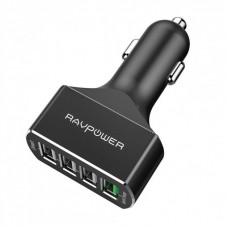 Автомобильное зарядное устройство RAVPower 54W 4-Port USB Car Charger with Quick Charge 3.0 (4X Faster) and iSmart 2.0 RP-VC003