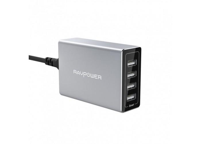 Зарядное устройство RavPower Porsche Design 40W 4-Port USB Charger Charging Station with iSmart RP-PC030