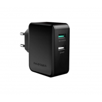 Зарядное устройство RAVPower USB Qualcomm Quick Charge 3.0 (4X Faster) 30W Dual USB Plug Wall Charger, Black RP-PC006BK