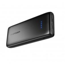 Внешний аккумулятор RAVPower 22000mAh 5.8A Output 3-Port Power Bank (2.4A Input, Triple iSmart 2.0), Black RP-PB052
