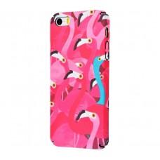 Чехол для iPhone 5/5s/SE Ibasi & Coer розовый фламинго