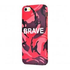 Чехол для iPhone 5/5s/SE Ibasi & Coer Brave красный