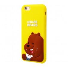 Чехол для iPhone 7 Plus/8 Plus Bare Bears Brown