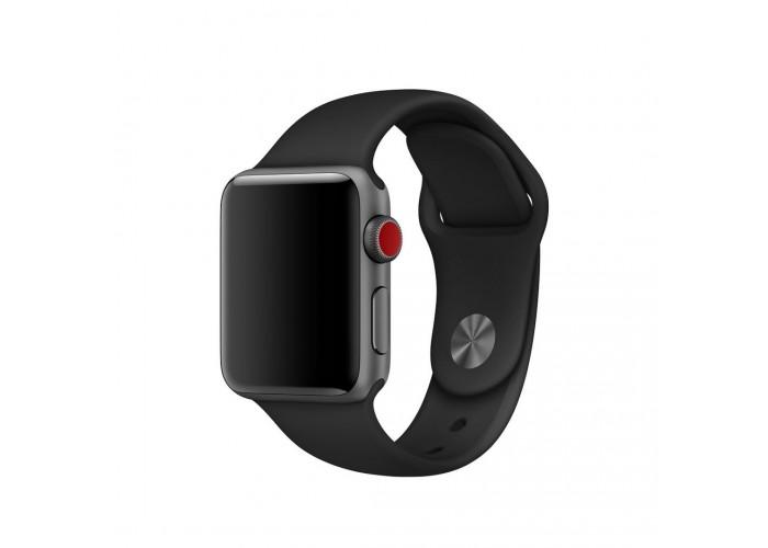 Силиконовый ремешок для Apple Watch 38/40/42/44мм Black
