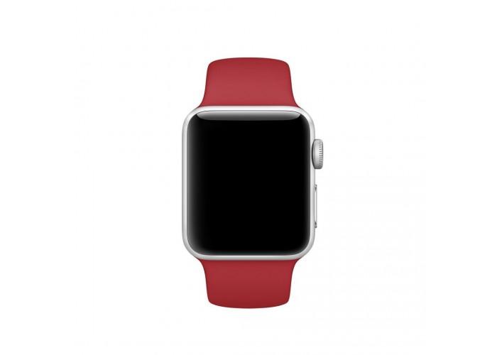 Силиконовый ремешок для Apple Watch 38/40/42/44мм (PRODUCT) Red