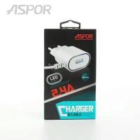 Зарядное устройство Aspor 2,4A USB LED