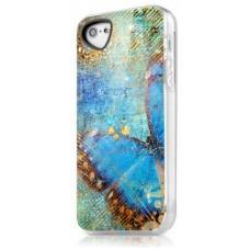 Чехол для iPhone 5/5s/SE ITSkins Phantom бабочка голубой