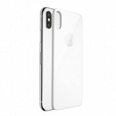 Защитное стекло iLera 3D на заднюю панель для iPhone X белое