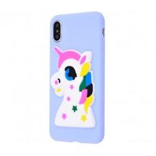 Чехол для iPhone X / Xs Fairy Tale единорог фиолетовый