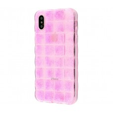 Чехол для iPhone X / Xs Tinsel розовый