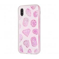 Чехол для iPhone X / Xs My Girl блестки вода розовый Diamonds