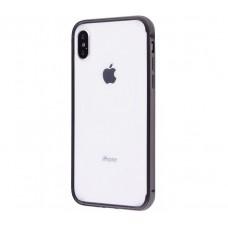 Бампер для iPhone X Evoque Metal серый